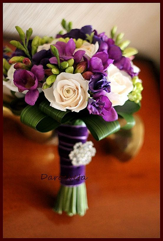 Clay handmade flowers by Darocveta Свадебное....
