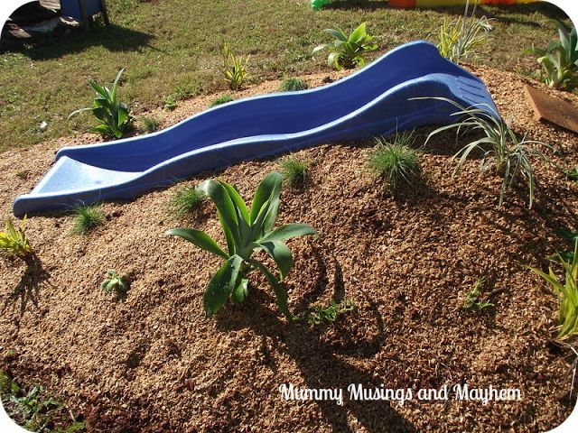 Natural Playspaces for Children - Building a Sensory Mound Slide.. via Mummy Musings and Mayhem