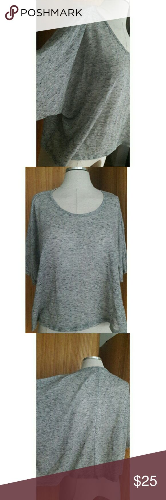 BCBGeneration xs-med Heather Gray knit top This pre-loved BCBGeneration knit to is sized xs, but can still give an oversized look if your a medium.  Great Condition with no holes, nor snags. Light knit. BCBGENERATION Tops Crop Tops