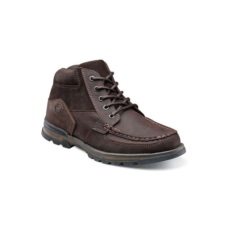 Nunn Bush Pershing Men's Moc Toe Casual Boots, Size: medium (10.5), Brown