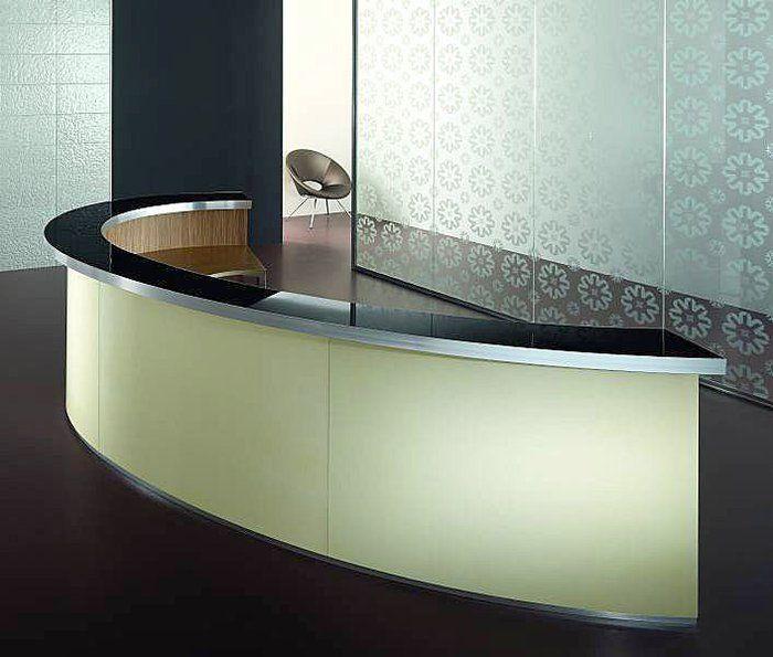C-shape Acrylic Marble Receiption Counter/ half-round Acrylic Marble Reception desk