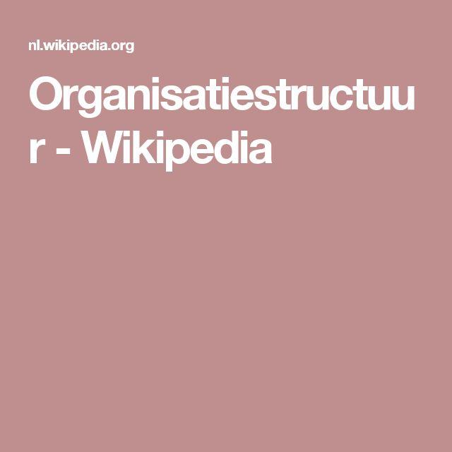 Organisatiestructuur - Wikipedia