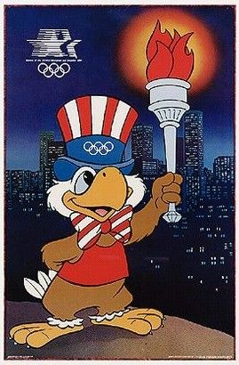 1984 Olympics Los Angeles LOGO- I loved working these Olympics - Field Hockey - escorted Sam, the mascot, around the field!!! Great memories!