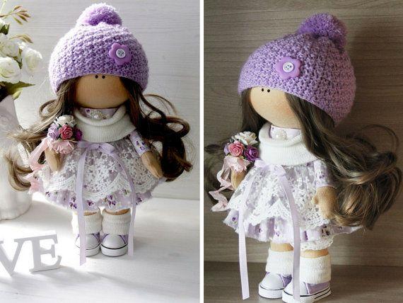 Soft doll Art doll Fabric doll Handmade doll por AnnKirillartPlace