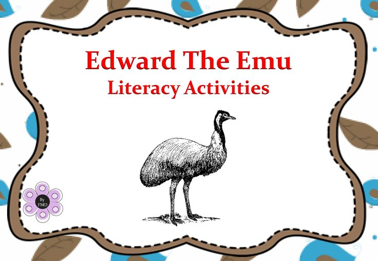 Edward The Emu - Literacy Activities_Page_01