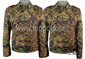 Reproduction WWII German Waffen SS M1940 Uniform Dot 44 Camouflage Panzer Wrap Tunic World War 2 Two WW2 sale clothing cheap sale reenacting reenactment reenactor airsoft jacket