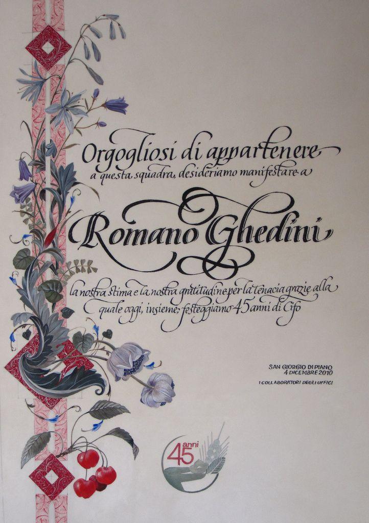 Calligraphy From Barbara Calzolari Illumination From