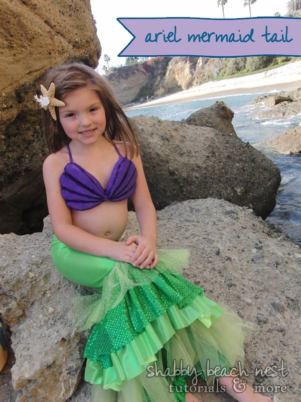"""A step-by-step costume tutorial on how to make a """"Disney's Little Mermaid"""" Ariel tail.  Just in time for Halloween!"""