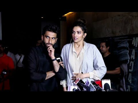 WATCH Ranveer Singh STOPS Deepika Padukone from answering Media's Stupid Question. See the full video at : https://youtu.be/FrhP27SMrUQ #ranveersingh #deepikapadukone