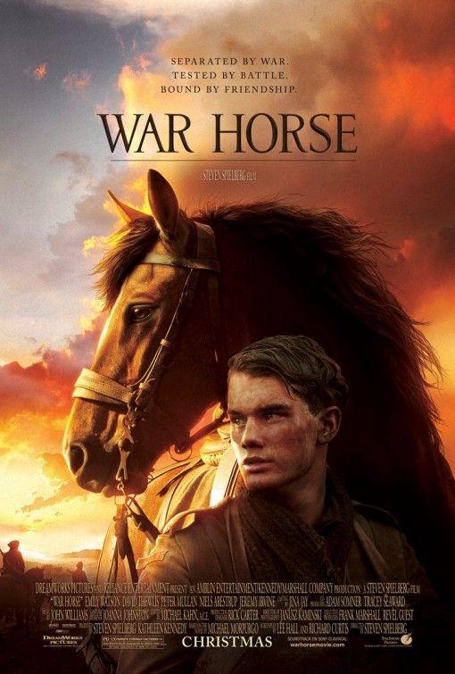 Cavalo de guerra. Filme de drama muito bom  Inspiração, Cartazes de Cinema: War Horse (Cavalo de Guerra).