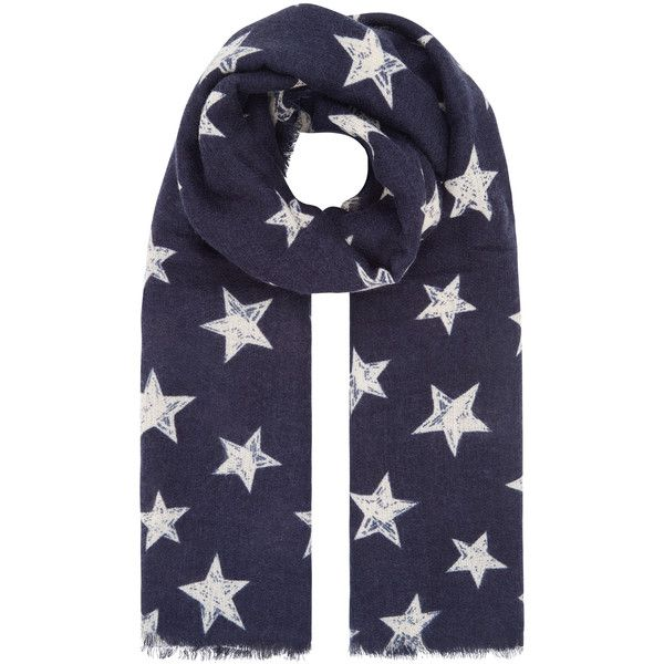 Accessorize Cosmic Star Scarf (483.405 IDR) ❤ liked on Polyvore featuring accessories, scarves, star scarves and accessorize scarves
