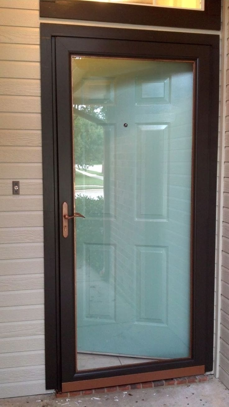 Replace a window with a door - Fix Lovely How To Paint Your Front Door Storm Door And Hardware