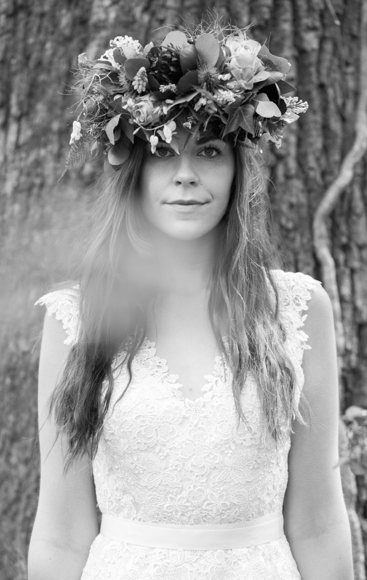 Dress  from www.bridalb.com/surrey  Photographer  http://jessicajillphotography.com  Bridal floral crown designed and created by www.hannahberryflowers.co.uk | Dress from www.bridalb.com/surrey