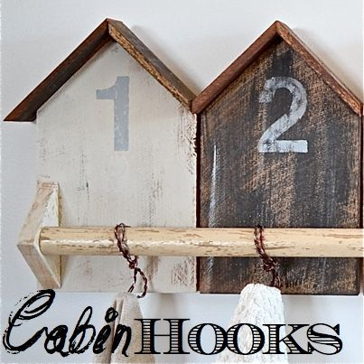 Cabin Hooks SQ  An inspired by project.  I was inspired by beach cottage hooks but we live in a cabin.