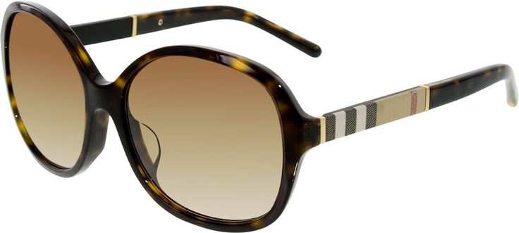 Burberry Women's Gradient BE4178F-300213-58 Brown Round Sunglasses