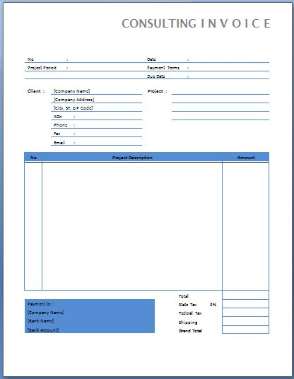 work performed invoice template - Militarybralicious - invoice format for consultancy