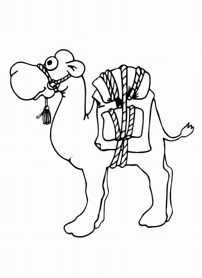 camel coloring pages for kids - photo#26
