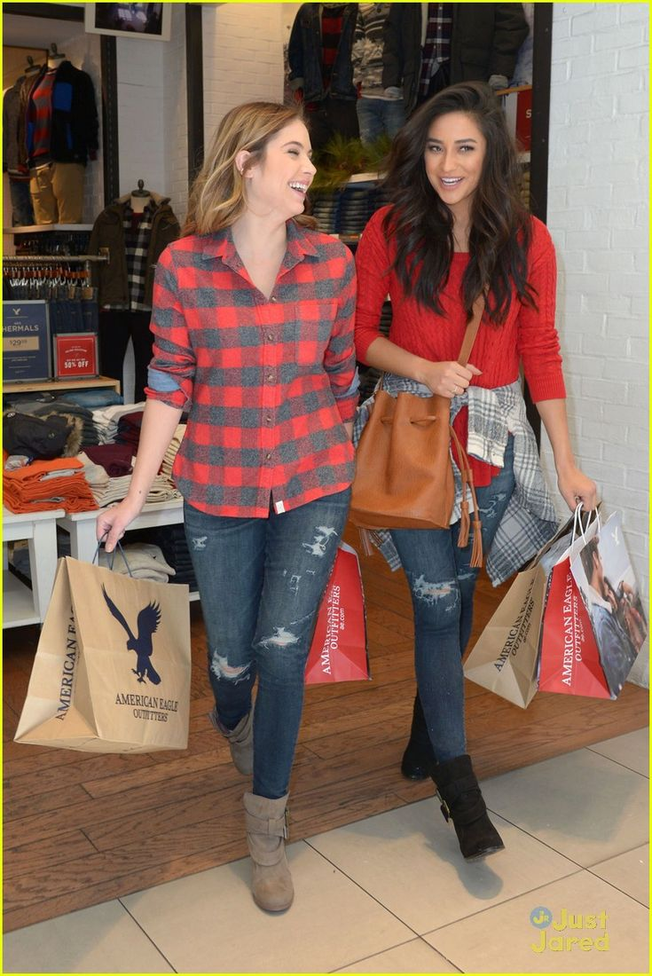 Shay Mitchell & Ashley Benson Have Holiday Shopping Spree At American Eagle Outfitters: Photo #903783. Shay Mitchell and Ashley Benson get close together for a fun selfie during their holiday shopping excursion at American Eagle Outfitters in Hollywood on Tuesday…