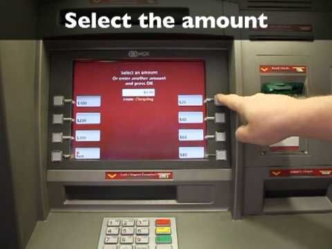 Using a bank machine (ATM) to make a withdrawal