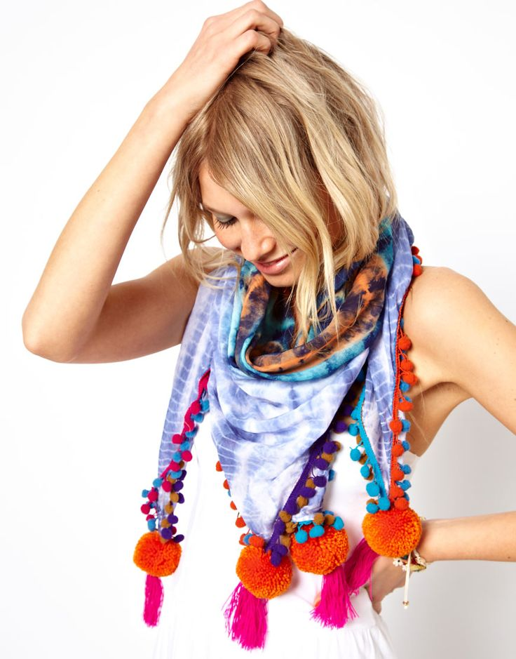 je veux des pompons ! foulard Asos