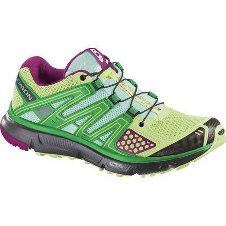 Salomon XR Mission Trail Running Shoe - Women'sFirefly Green/Black/Mystic Purple