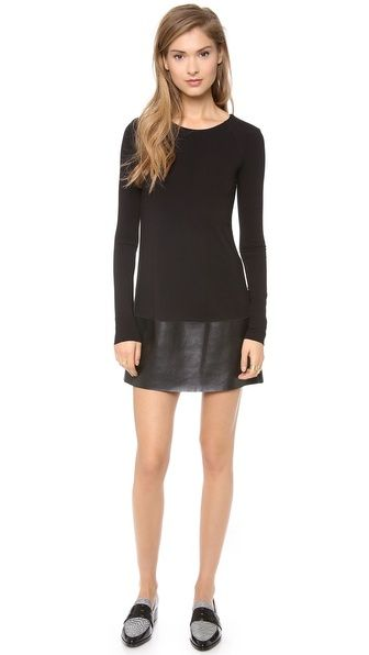 Bailey44 Password Dress  black and white stripe dress