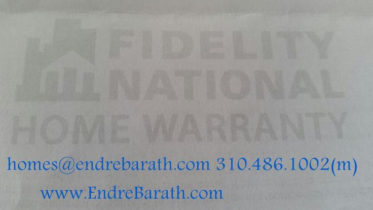 The Fidelity National Home Warranty was a hero for the new buyers!