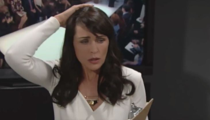 """""""The Bold and the Beautiful"""" spoilers for Friday, November 11, tease that Quinn (Rena Sofer) will be a bundle of nerves as the fashion show draws near. Pam's (Alley Mills) latest prank certainly didn't help. Quinn will fill Ivy (Ashleigh Brewer) and Wyatt (Darin Brooks) in on Pam's stupid trick. She"""