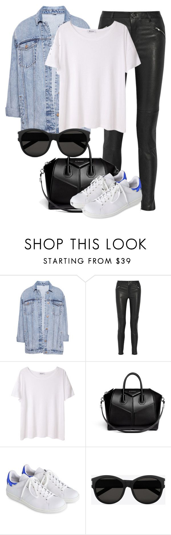"""Untitled #2000"" by annielizjung ❤ liked on Polyvore featuring Pull&Bear, BLK DNM, T By Alexander Wang, Givenchy, Isabel Marant and Yves Saint Laurent"