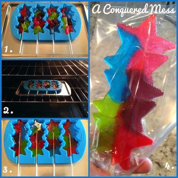 #DIY Jolly Rancher #Lollipops via @AConqueredMess #PartyFavors