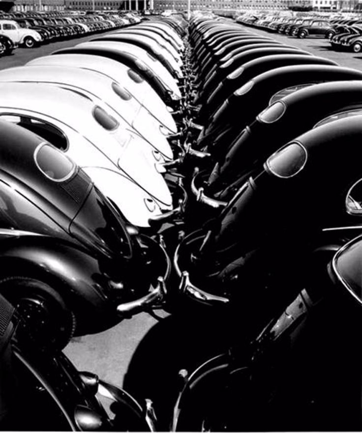 In a Volkswagen Factory, 1953