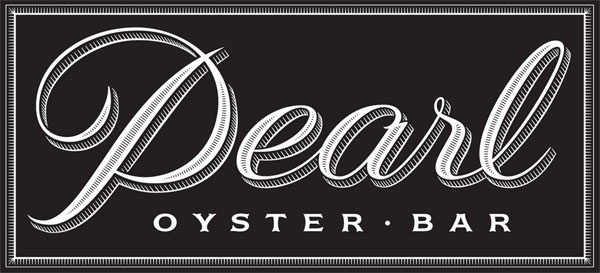 restaurant logo: Louise Fili reinvents the Pearl Oyster Bar logo