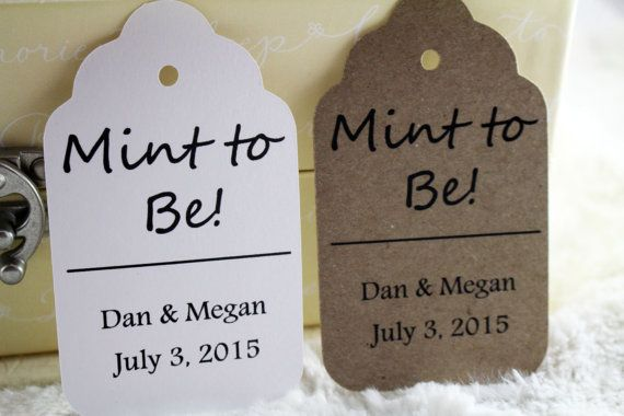 Mint to Be Tags Perfect for Weddings Mint by SillyLoveSongCustoms