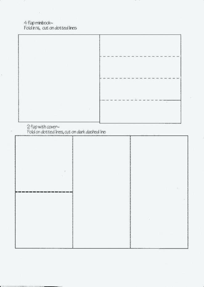 Quarter Fold Cards Template Awesome Quarter Fold Card Template New Quarter Fold Card Template Flip Book Template Mini Books Book Folding Templates