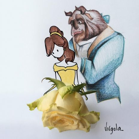 Una rosa gialla è l'abito di Belle Virgola by Virginia Di Giorgio