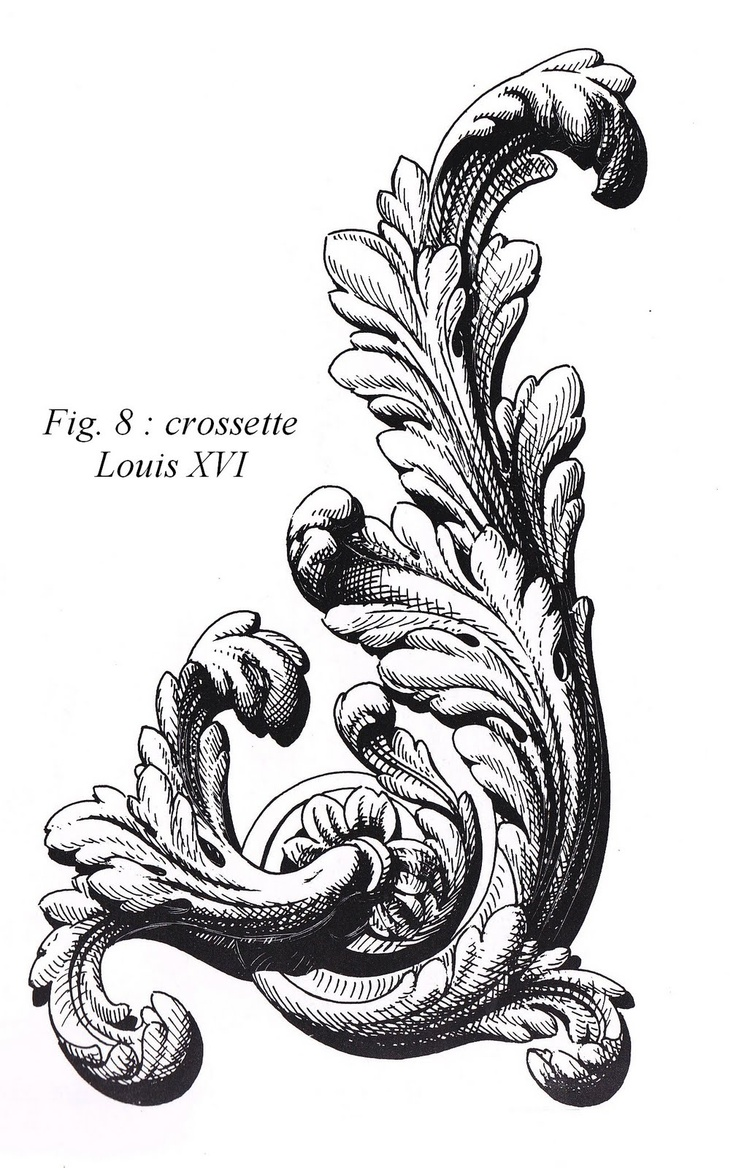 feuille acanthe crossette Louis XVI