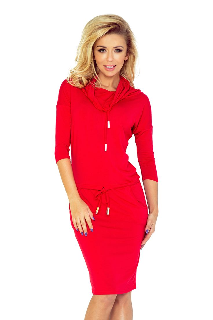 sportove saty, red, cervene saty, saty s dlhym rukavom, saty na den, saty na party, fashion, dress, woman´s dress, red dress,