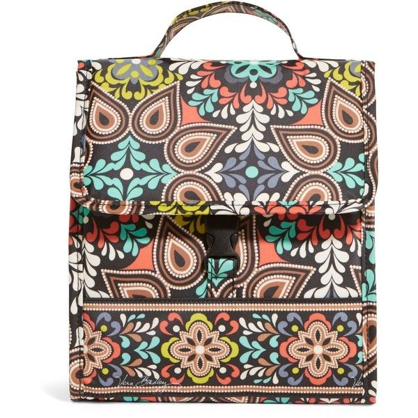 Vera Bradley Lunch Sack Bag in Sierra ($34) ❤ liked on Polyvore featuring home, kitchen & dining, food storage containers, bags, online clearance, sale, sierra, brown lunch bags, lunch bag and vera bradley