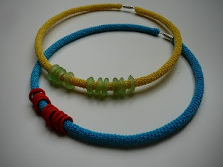ineseda.blogspot.com #crochet #jewelry #necklace