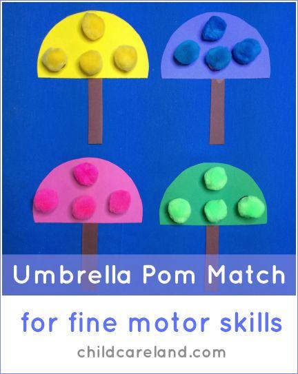 Umbrella pom pom match