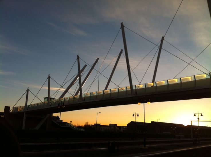 Foot bridge to Forthside from Stirling Train Station