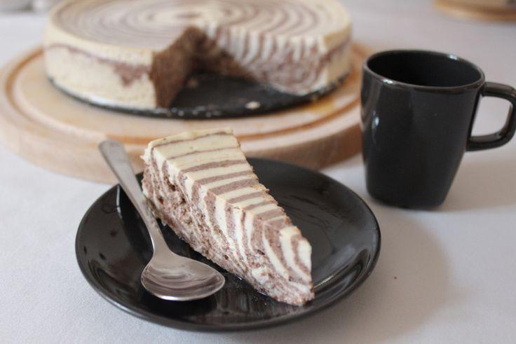 Mramorový cheesecake bez korpusu