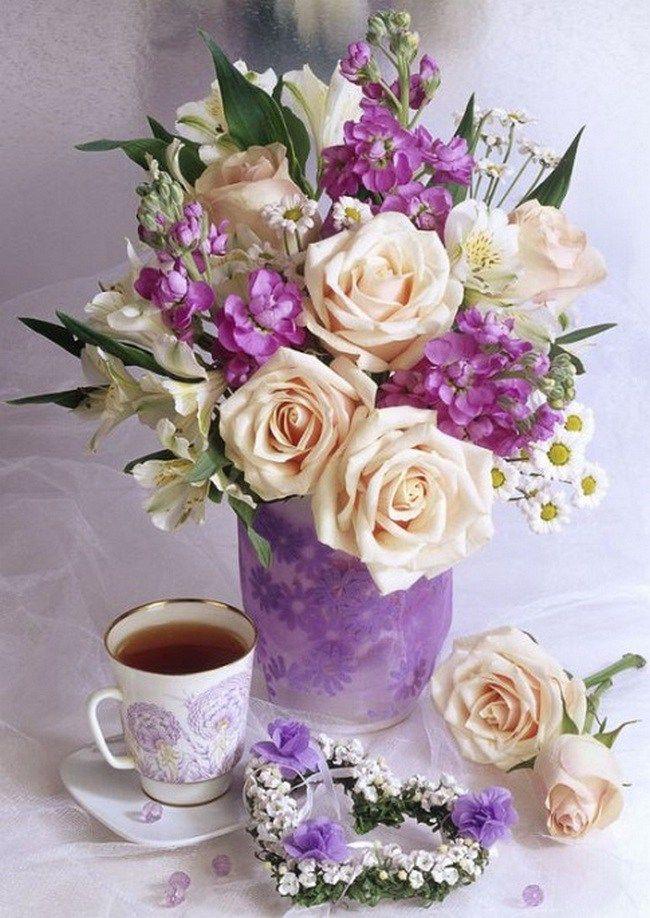 Картинки, открытки цветы красивые букеты с добрым утром