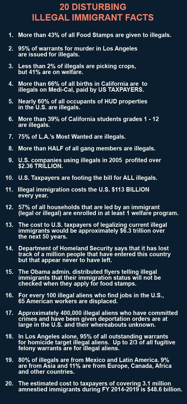 Here's A List Of Negative Effects Of Bringing In Illegal Immigrants Not  Only From Mexico But From Other Countries As Well Immigrants Who Legally  Enter The