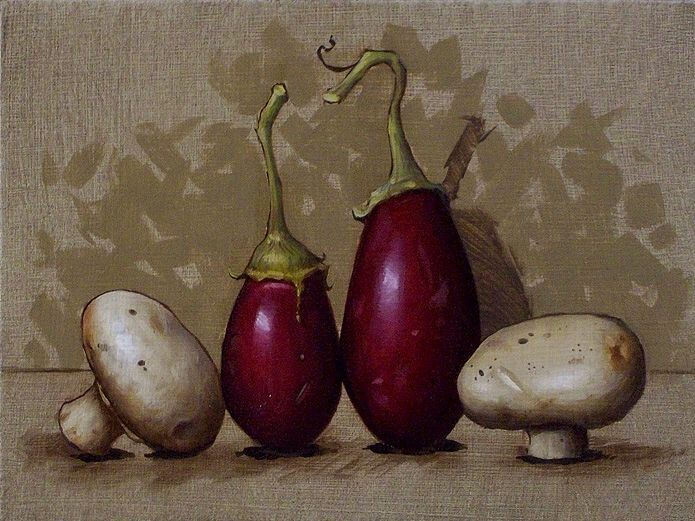 Baby Eggplants by Clinton Hobart