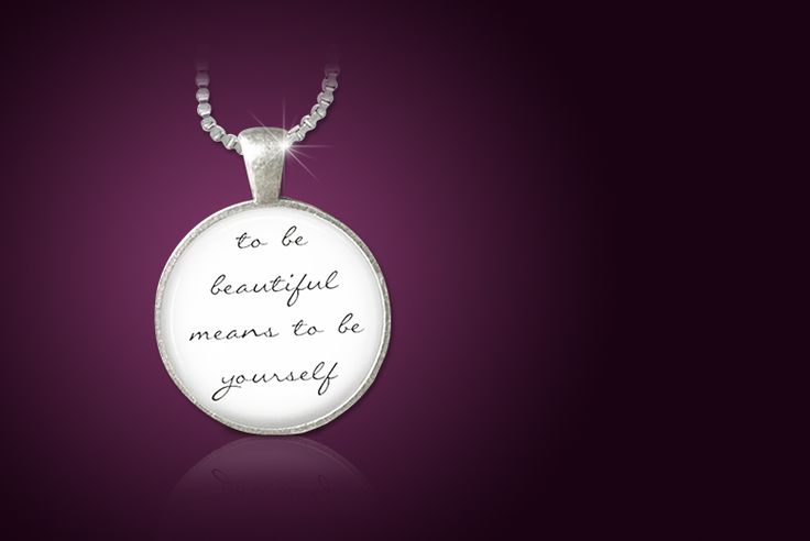 'To be Beautiful' Pendant Necklace
