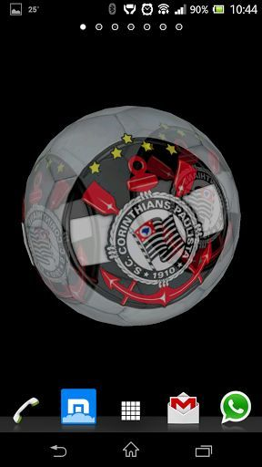 Fantastic Live Wallpaper with which you can improve the appearance of your Smartphone with the 3D model of the Sport Club Corinthians Paulista Emblem.<p>You can change the wallpaper image by double tap on the 3D model<p>From Settings menu you can configure the application as follows:<br>-Change the picture to show.<br>-3D Model Choose between sphere, cube and plane.<br>-Change the speed of rotation.<br>-Change the size of the 3D model.<br>-Allow the ball bounce on the Smartphone…