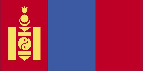 Country Flags: Mongolia Flag