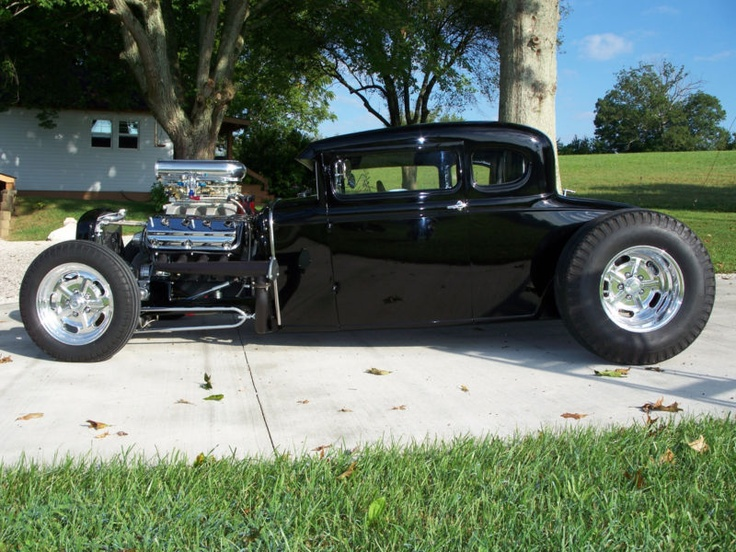 Hemi powered Ford A coupe.