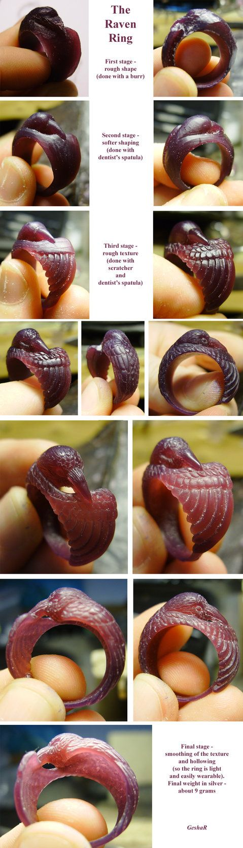 WiP - Raven Ring by GeshaR on DeviantArt  The finished ring here…